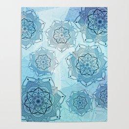Blue mandalas Poster