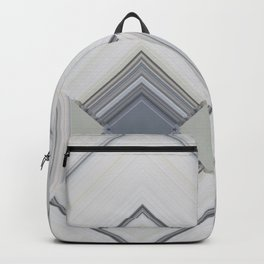 Classic Multi pattern White Grey Blue Design Backpack