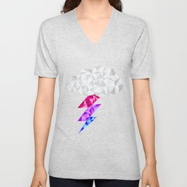 Bisexual Storm Cloud Unisex V-Neck