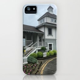 """Lakeside Chautauqua Pool House"" Photography by Willowcatdesigns iPhone Case"
