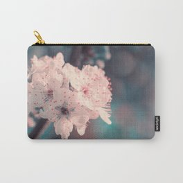 Delicate Strength (Spring White Cherry Blossom) Carry-All Pouch