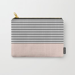 Half lines half soft pink Carry-All Pouch