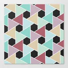 triangles and hexagons Canvas Print