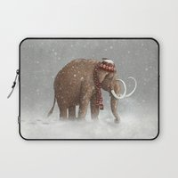 elephant Laptop Sleeves featuring The Ice Age Sucked by Terry Fan