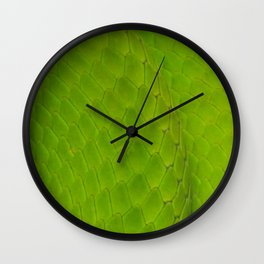 Green Mamba Wall Clock