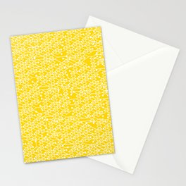 Microchip Pattern (Yellow) Stationery Cards