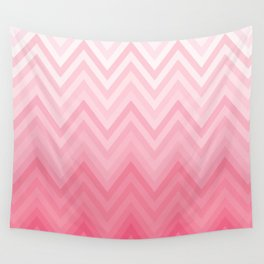 Fading Pink Chevron Wall Tapestry