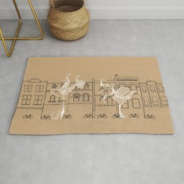 Queen Street Canvas Rug