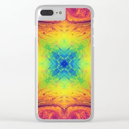 Psychedelic Two Clear iPhone Case