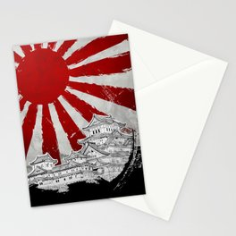 Japanese Palace and Sun Stationery Cards
