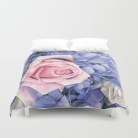 wedding Duvet Covers featuring Wedding Bouquet by LouiseDemasi