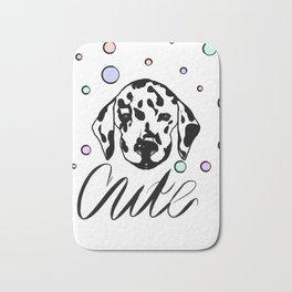 Dalmatian dog design Bath Mat