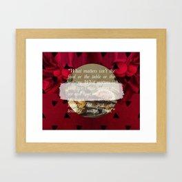 The Table Framed Art Print