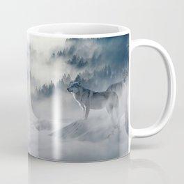 Photo of a wolf in a winter scene Coffee Mug