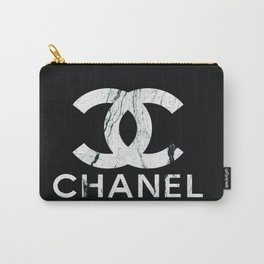 Couture Fashion Designer Inspired Marble Typography Carry-All Pouch