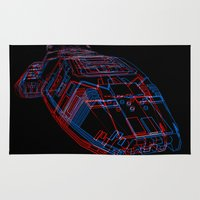 battlestar galactica Area & Throw Rugs featuring Classic Galactica 3D by Billy Allison