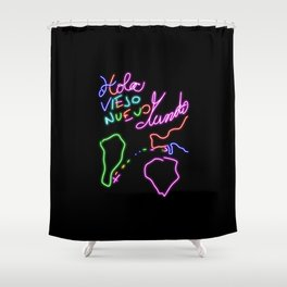 Hello Old New World! Shower Curtain