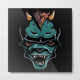 evil face Metal Print