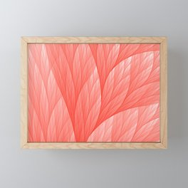 Living Coral Color of the Year 2019 Abstract Pattern Fractal Fine Art Framed Mini Art Print