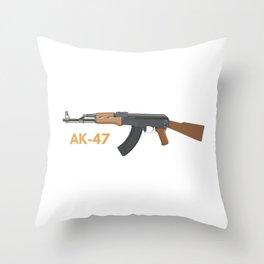 AK-47 Assault Rifle Throw Pillow