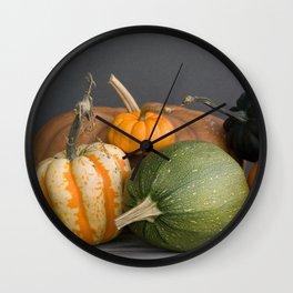 Nature Morte no. 26 -- Still Life Squashes & Potirons Wall Clock