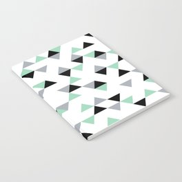 Triangles Mint Grey Notebook
