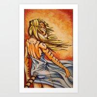 The Tiger Girl Art Print