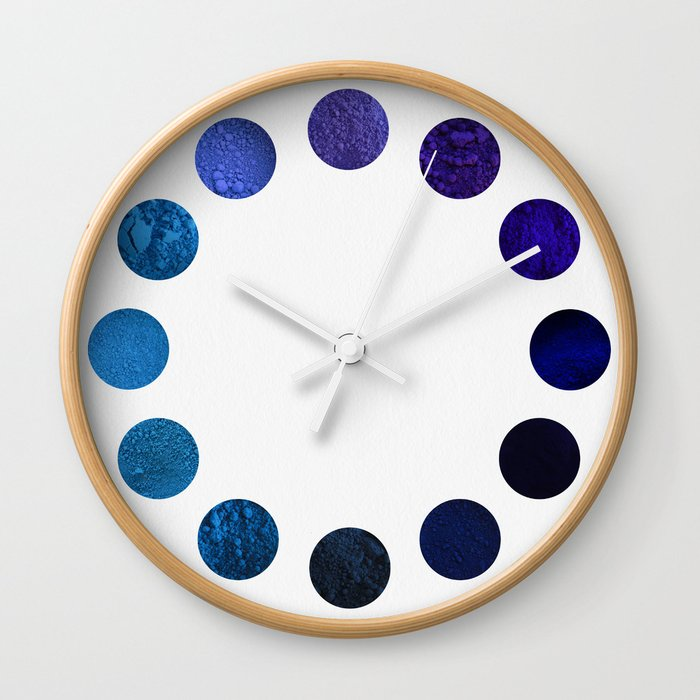 Blue Pigments Wall Clock
