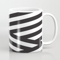 stripes Mugs featuring Stripes by Dizzy Moments