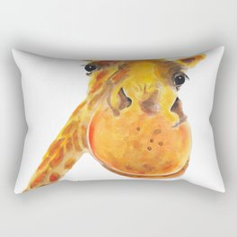 Cute Giraffe ' BENNY ' by Shirley MacArthur Rectangular Pillow