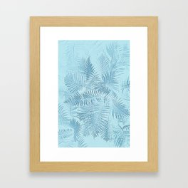 Abstract Tropical leaves Framed Art Print