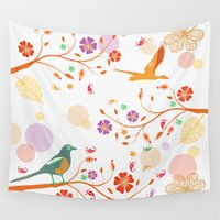 autumn Wall Tapestries featuring Autumn by Kakel