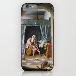 """Jan Steen """"Woman at her Toilet"""" iPhone Case"""