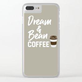 Dream & Bean Coffee Clear iPhone Case