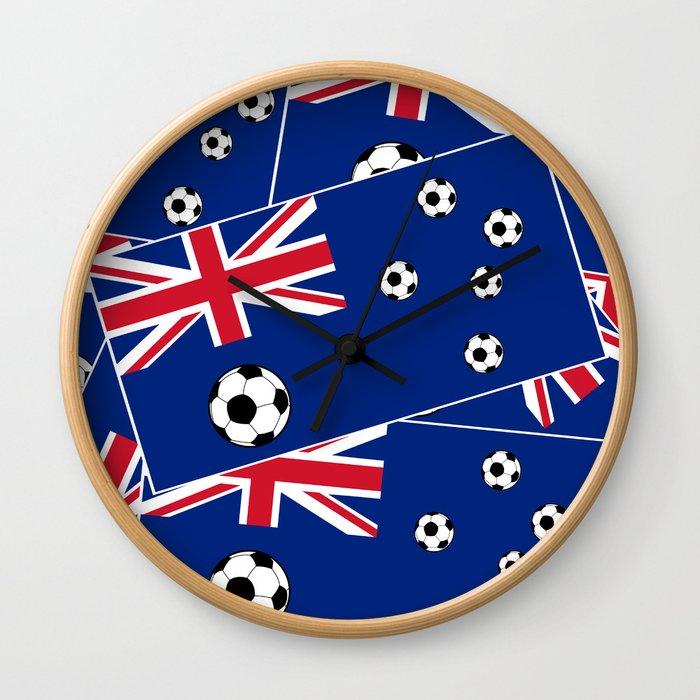 Australian Flag Football Wall Clock