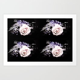 Pink and Purple Corsage Art Print