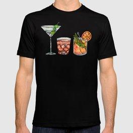 Classic Cocktails  – 1960s Watercolor Lineup T-shirt