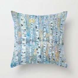Enchanting Birches Throw Pillow