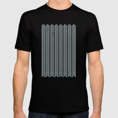 stamb chevron SMALL Black Mens Fitted Tee