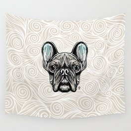 French Bulldog Smilling Wall Tapestry