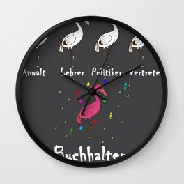 Accountant Colorful Flamingo Funny Attracting Gift Wall Clock