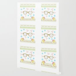Glasses Christmas Ugly Shirt Bookworm Librarian Teacher Wallpaper