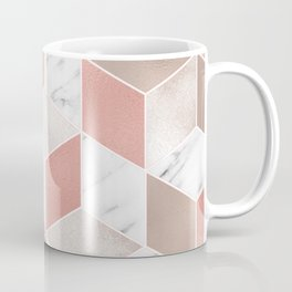 Summer peach marble geometry Coffee Mug