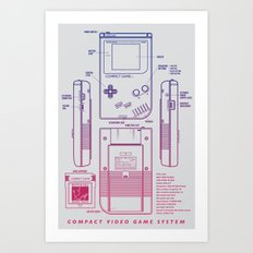 Game Kid Art Print