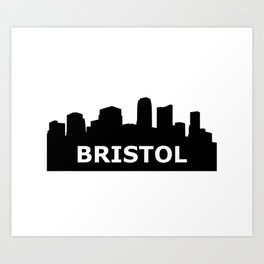 Bristol Skyline Art Print