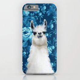 Blue Llama Painting iPhone Case