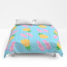 Pineapples & Flip Flops Comforters