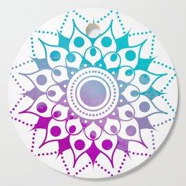 Mandala #2 (Purple Pink Turquiose) Cutting Board