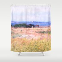 horses Shower Curtains featuring Horses  by Truly Juel