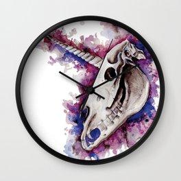 Unicorn skulls Wall Clock